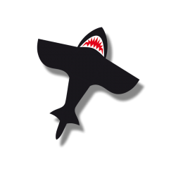 HQ Shark Kite 4""