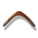 Murra Wolka - Dot Art Black Wattle Root – Returning Boomerang